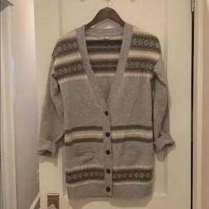 Gap Grey Winter Cardigan